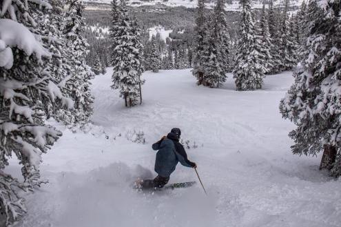 Good early season snow conditions on 2 December 2018 in Copper Mountain, Colorado, USA – Weather to ski – Who got the most snow in North America in 2018-19?