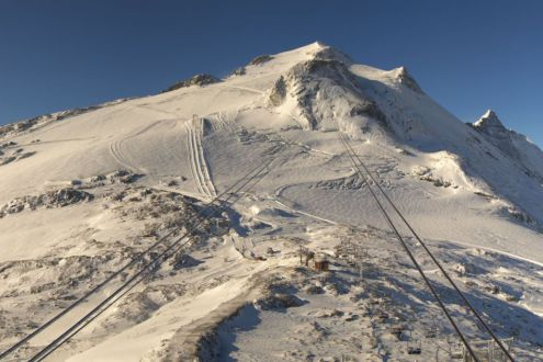 Improved snow cover on the Grande Motte glacier, Tignes, 7 October 2019 – Weather to ski – Today in the Alps, 7 October 2019