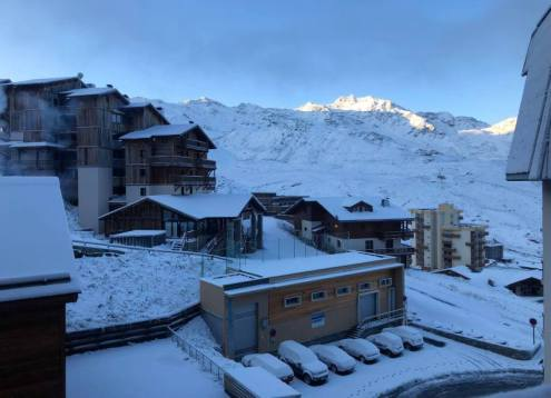 Wintry looking Val Thorens, France on 7 October 2019 – Weather to ski – Today in the Alps, 7 October 2019