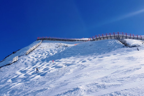 Top of Aiguille Rouge piste, Les Arcs - Weather to ski - Is this the best piste in the Alps?