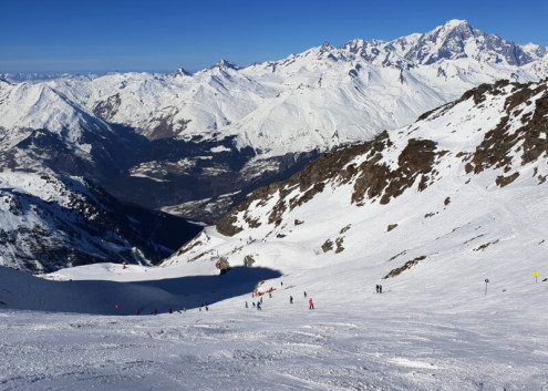 Glacier du Varet, Aiguille Rouge piste, Les Arcs - Weather to ski - Is this the best piste in the Alps?