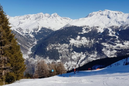 Aiguille Rouge piste, Les Arcs - Weather to ski - Is this the best piste in the Alps?
