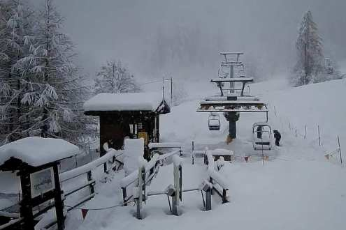 Heavy snow in Prali, Italy, on 23 November 2019 – Weather to ski – Today in the Alps, 23 November 2019
