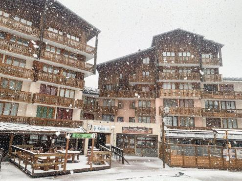 It's snowing this morning in Val Fréjus, France, 27 November 2019 – Weather to ski – Today in the Alps, 27 November 2019