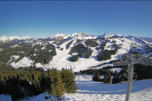 Les Gets, France – Weather to ski – Today in the Alps, 6 January 2020