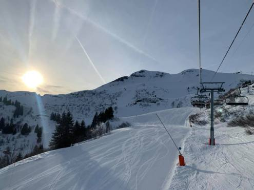 Flaine, France – Weather to ski – Today in the Alps, 13 January 2020