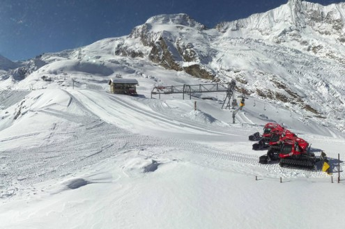 Saas-Fee, Switzerland – Weather to ski – Today in the Alps, 18 October 2020
