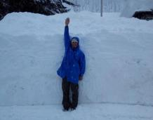 Who got the most snow in the Alps in 2013-14?