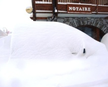 Who got the most snow in the Alps in 2012-13?