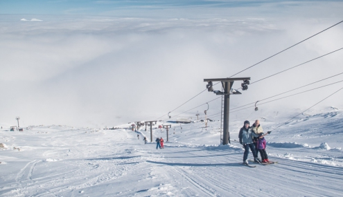 Main Basin T-Bar at Glencoe Mountain Resort - Weather to ski - Our complete guide to weather & snow conditions in Scotland