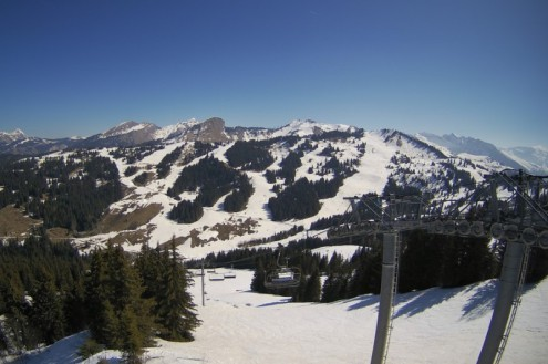 Les Gets, France – Weather to ski – Today in the Alps, 4 April 2021